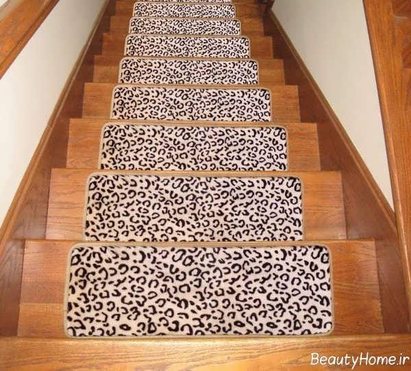 فرش زیبا و طرح دار مخصوص راه پله