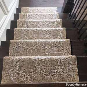 فرش طرح دار برای راه پله