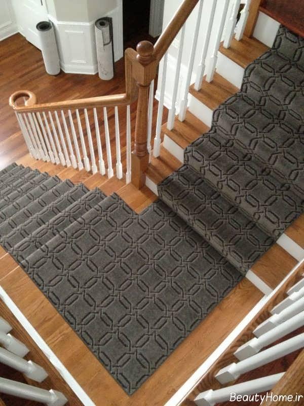 فرش زیبا برای راه پله ها