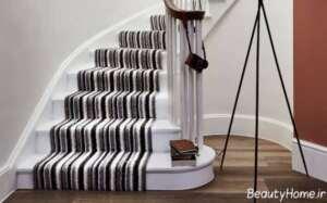 فرش راه راه برای پله ها