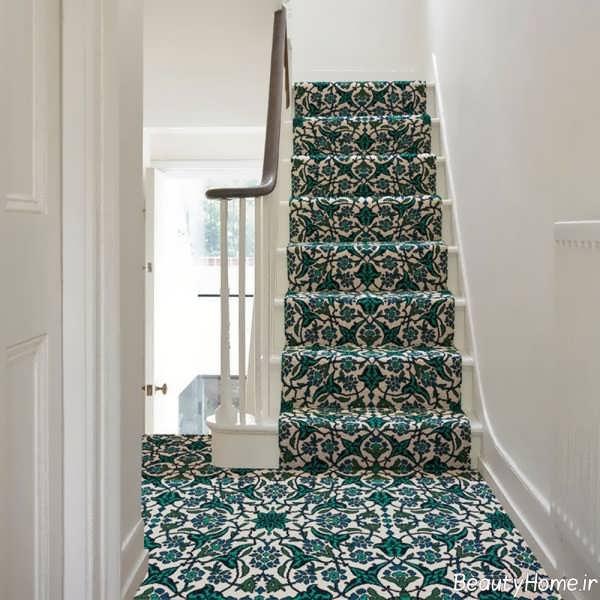فرش طرح دار برای پله ها