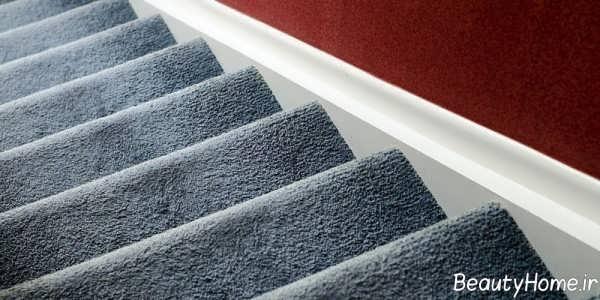 فرش طوسی برای پله ها
