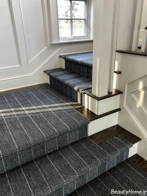 مدل فرش راه پله شیک و زیبا