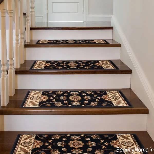 طرح فرش راه پله شیک