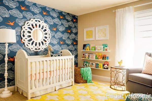 دکوراسیون اتاق نوزاد آبی با ایده های خلاقانه