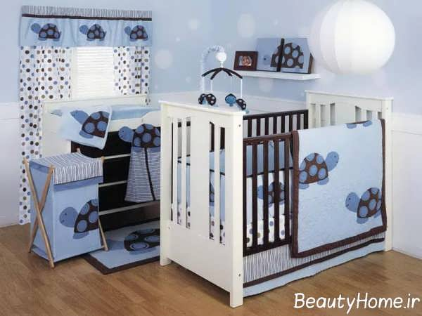 دکوراسیون داخلی اتاق نوزاد به رنگ آبی