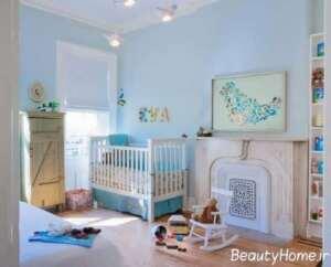 دکوراسیون بی نظیر اتاق نوزاد به رنگ آبی