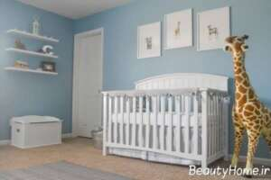 دکوراسیون اتاق نوزاد آبی