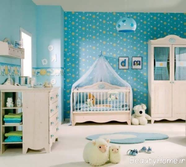 دکوراسیون رنگی اتاق نوزاد