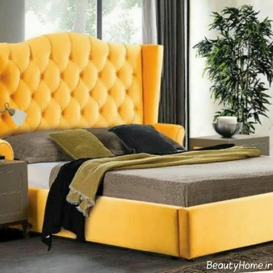 مدل تخت باکس دار زرد