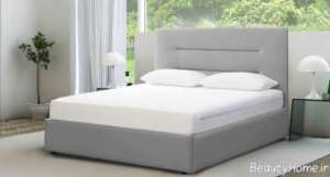 تخت خواب طوسی باکس دار