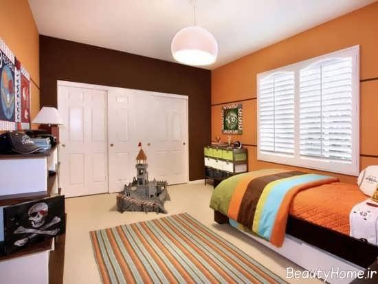دیزاین اتاق خواب نارنجی