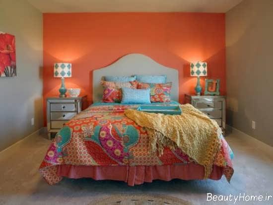 نورپردازی اتاق خواب نارنجی
