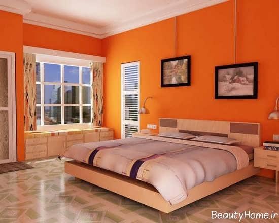 اتاق خواب نارنجی