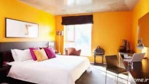 طراحی داخلی اتاق خواب نارنجی