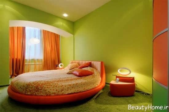 دکوراسیون اتاق خواب نارنجی