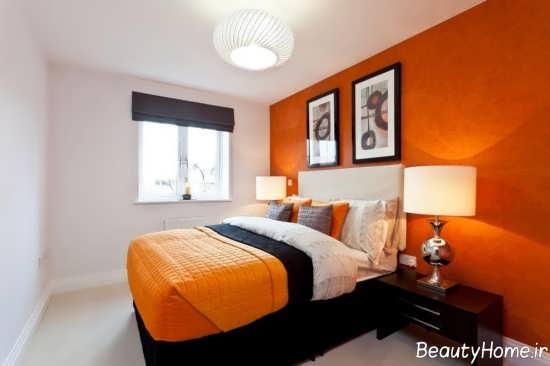 مدل های دکوراسیون اتاق خواب نارنجی
