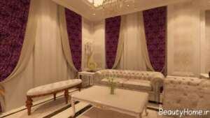 طراحی داخلی نیمه کلاسیک