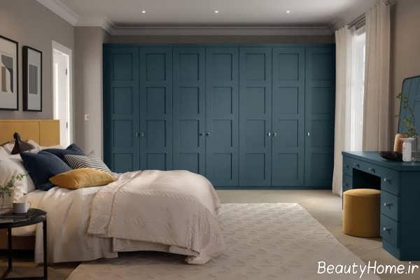 دیزاین اتاق خواب نیمه کلاسیک