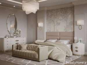 طراحی داخلی نیمه کلاسیک اتاق خواب