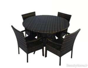 مدل میز و صندلی مشکی برای تراس