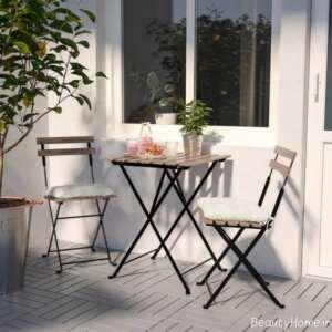 مدل میز و صندلی فلزی برای تراس
