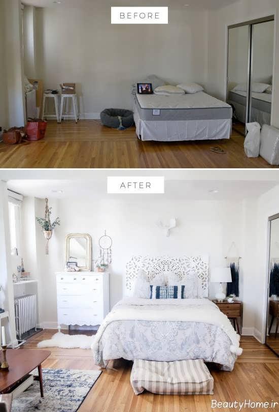 تغییر در فضای اتاق خواب به ک