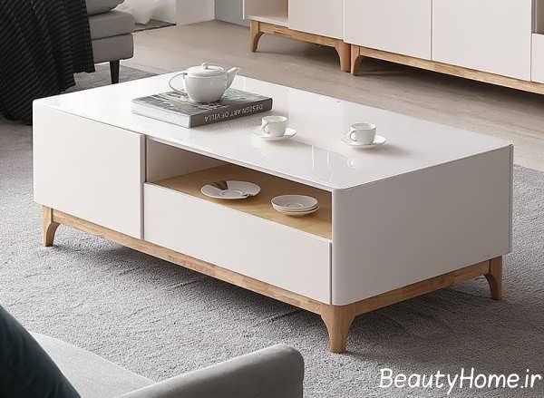 مدل میز قهوه خوری سفید