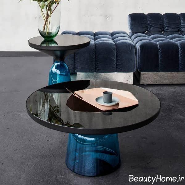 میز قهوه خوری شیشه ای