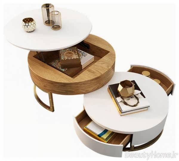 طرح میز قهوه خوری شیک و مدرن