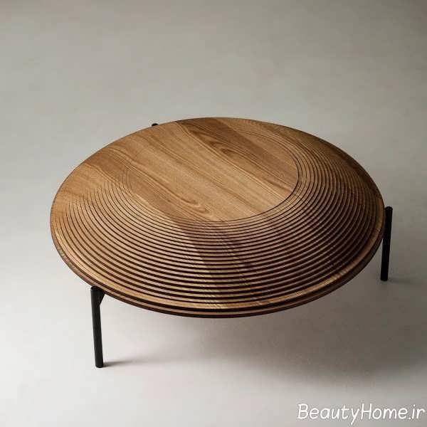 مدل میز قهوه خوری چوبی و شیک