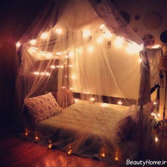 نورپردازی زیر تخت خواب