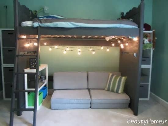 تزیین جالب زیر تخت خواب
