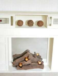 تزیین شومینه با چوب