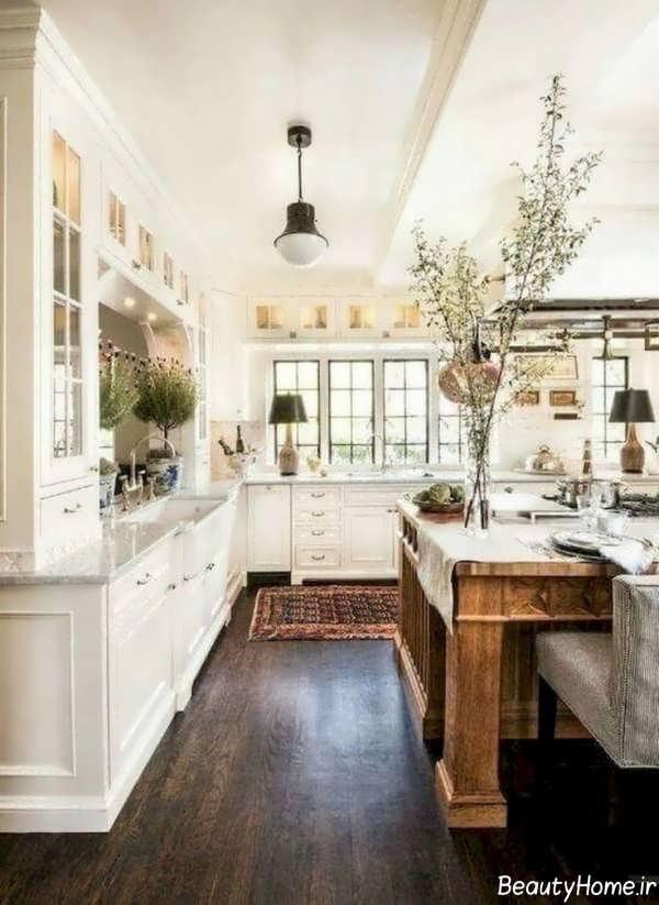 طراحی داخلی آشپزخانه به سبک فرانسوی