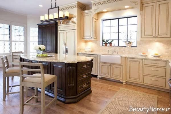 طراحی داخلی آشپزخانه به کمک سبک دکوراسیون فرانسوی