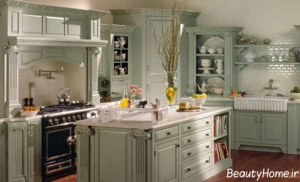 سبک دکوراسیون فرانسوی مخصوص آشپزخانه