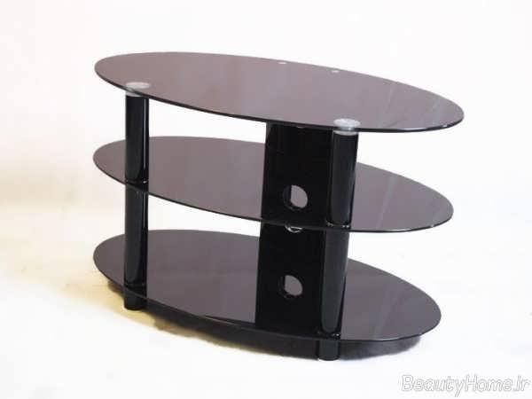 مدل میز تلویزیون شیشه ای شیک و خاص