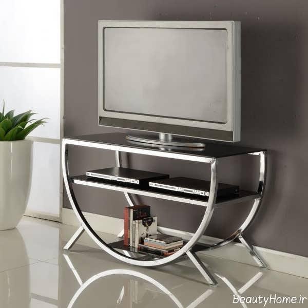 میز تلویزیون شیشه ای و مدرن
