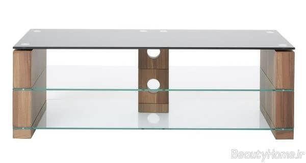 میز تلویزیون شیک شیشه ای