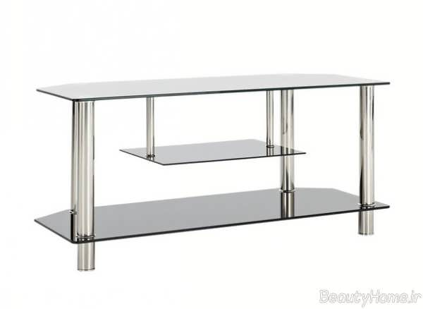 مدل میز تلویزیون شیشه ای شیک و ساده