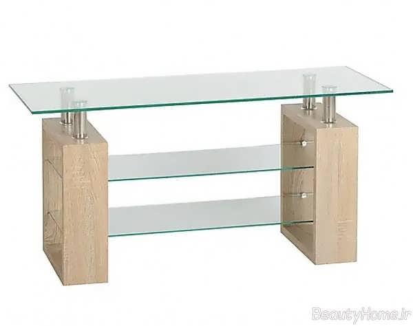 میز تلویزیون خاص شیشه ای