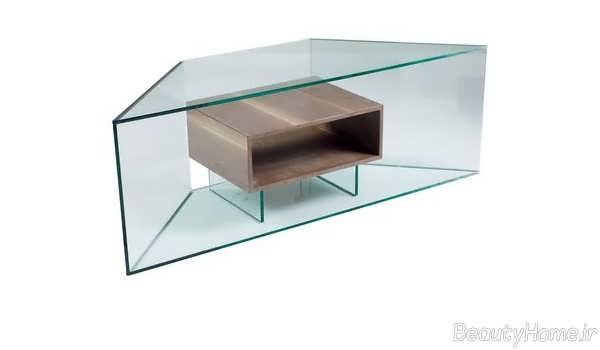 مدل میز تلویزیون شیشه ای خاص