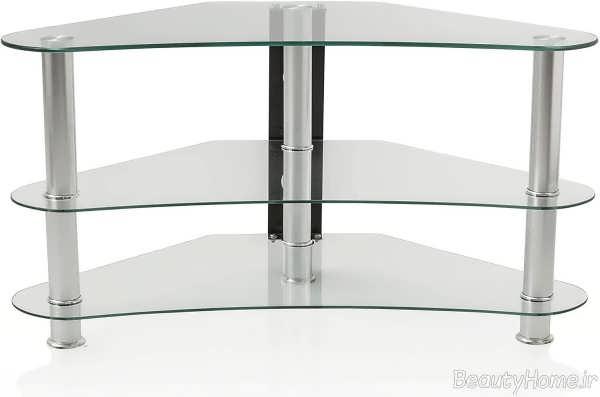 مدل میز تلویزیون شیشه ای شیک