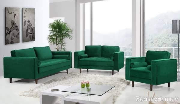 مدل مبل سبز یشمی