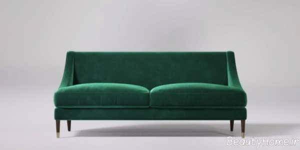 مدل مبل سبز یشمی ساده