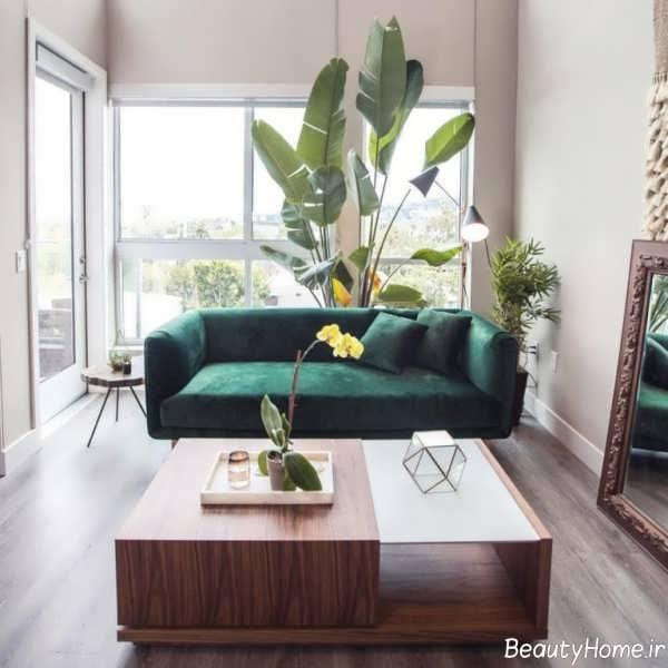 مدل مبل سبز یشمی شیک