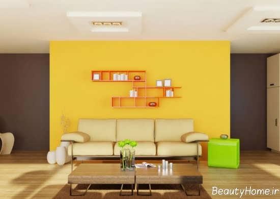 دیزاین داخلی منزل با رنگ لیمویی زرد