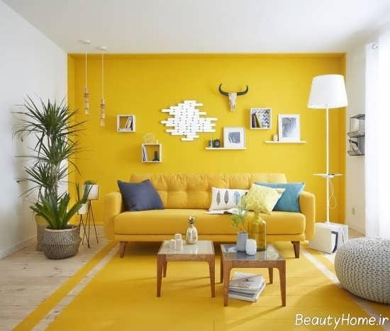 دکوراسیون پذیرای لیمویی