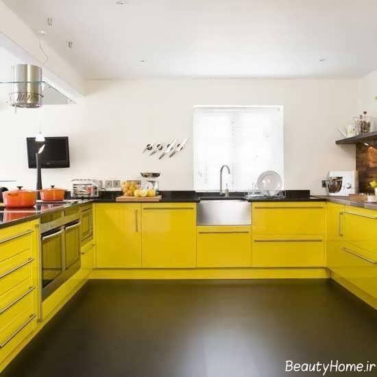طراحی داخلی منزل با رنگ لیمویی